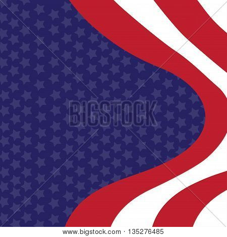 Vector background of Independence day of the United States template 4th of July for reeting card