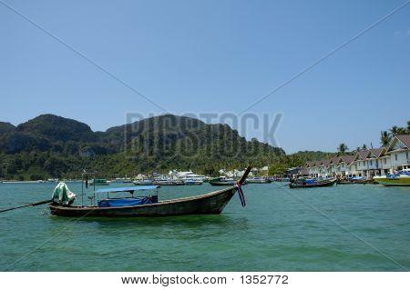 Boat Moored At Beach