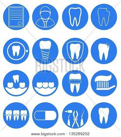 Dental icon set for dental Infographic. Vector
