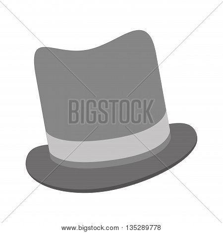 grey tophat vector illustration flat icon style