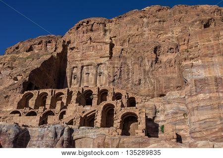 Urn Tomb - One Of Royal Tombs. Petra, Jordan. No People