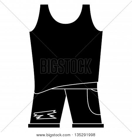 black and white sleeveless top with blue pants vector illustration