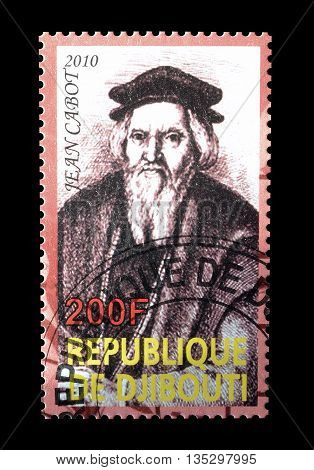 DJIBOUTI - CIRCA 2010 : Cancelled postage stamp printed by Djibouti, that shows Jean Cabot.