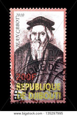 DJIBOUTI - CIRCA 2010 : Cancelled postage stamp printed by Djibouti, that shows Jean Cabot.