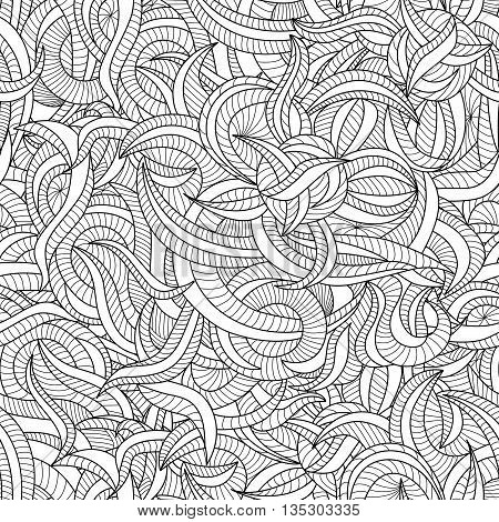 Seamless pattern background with the fancy curves