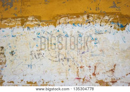 yellow grunge wall highly detailed textured background