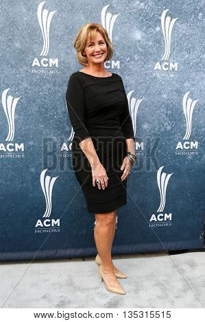 NASHVILLE, TN-SEP 1: Jake Owen's mother Mitzi Owen attends the 9th Annual ACM Honors at the Ryman Auditorium on September 1, 2015 in Nashville, Tennessee.