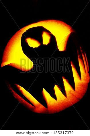 Abstract Creative Homemade Halloween Pumpkin Scene England
