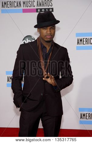 Ne-Yo at the 2010 American Music Awards held at the Nokia Theatre L.A. Live in Los Angeles, USA on November 21, 2010.