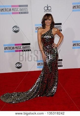 Karina Smirnoff at the 2010 American Music Awards held at the Nokia Theatre L.A. Live in Los Angeles, USA on November 21, 2010.
