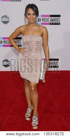 Cheryl Burke at the 2010 American Music Awards held at the Nokia Theatre L.A. Live in Los Angeles, USA on November 21, 2010.