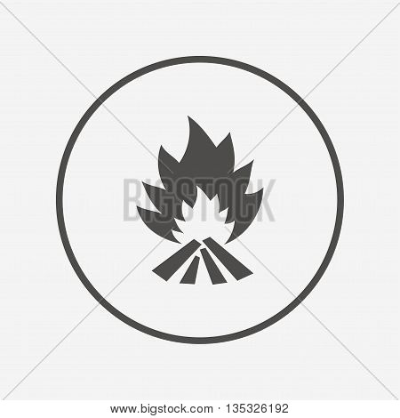 Fire flame sign icon. Heat symbol. Flat fire flame icon. Simple design fire flame symbol. Fire flame graphic element. Round button with flat fire flame icon. Vector