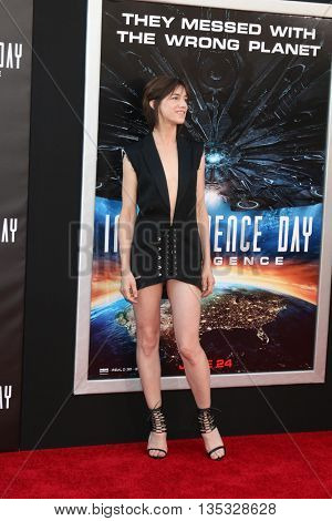 LOS ANGELES - JUN 20:  Charlotte Gainsbourg at the Independence Day: Resurgence LA Premiere at the TCL Chinese Theater IMAX on June 20, 2016 in Los Angeles, CA