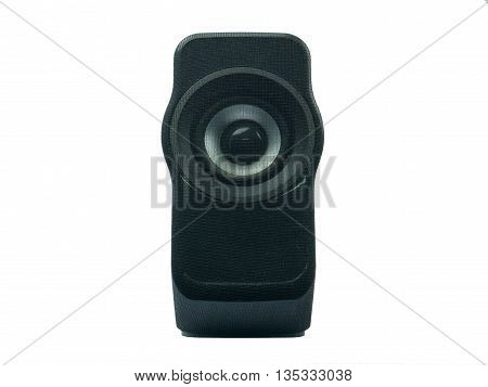 a computer speaker on white background isolate