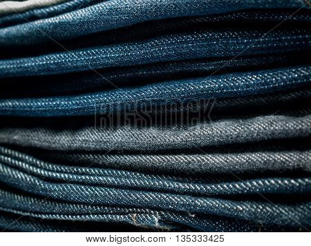 Stack of jeans for a Background .