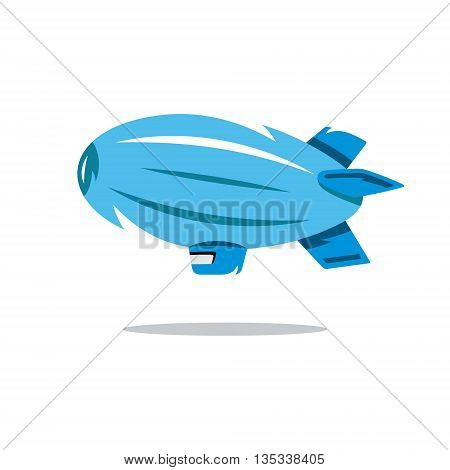 Dirigible and hot air balloons airships in flight icons collection white red abstract isolated vector illustration