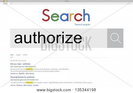 Authorize Allow Entitle Sanction Concept