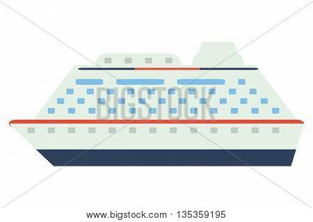 colorful cruiseship icon vector illustration flat style design