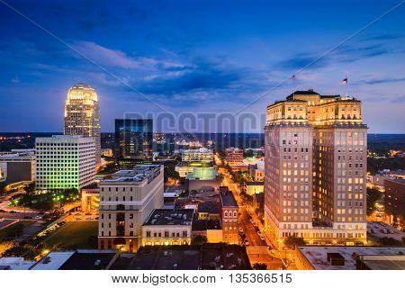 Winston-Salem, North Carolina, USA skyline.