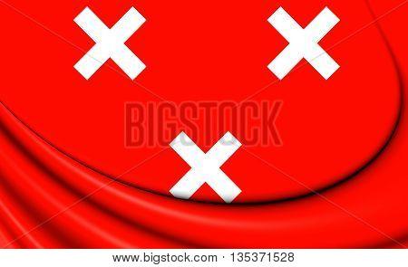 Flag Of Breda (north Brabant), Netherlands.