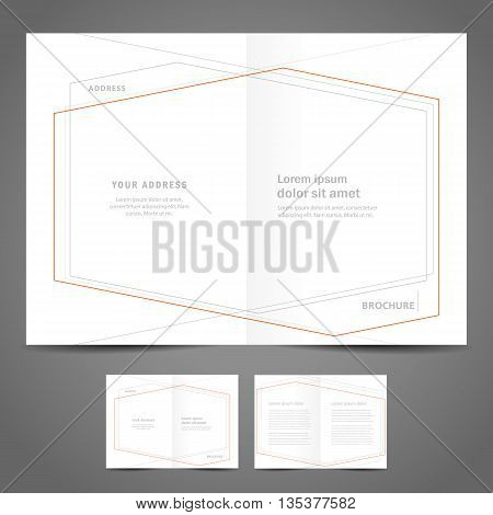 brochure design template - booklet catalog abstract geometric figure line frame