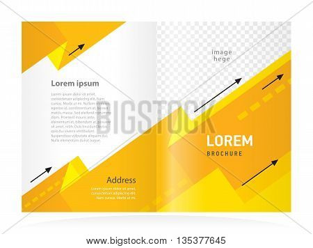 brochure design template cover business arrows yellow