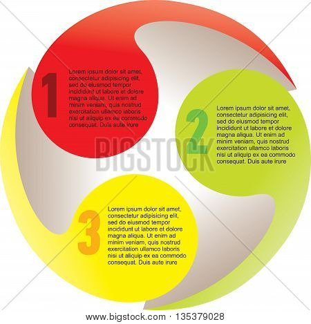 Creative list disc cycle element colorful sphere