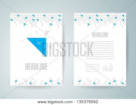 flyer size A4 brochure design template triangles