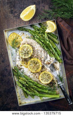 Coalfish Filet with Green Asparagus