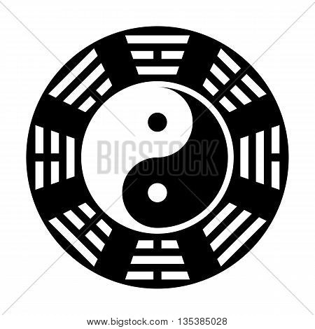 Yin and yang symbol. Modern yin-yang symbol isolated on white background. King Wen