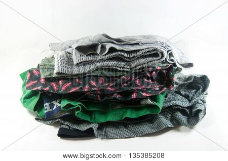 A boxer shorts isolated on white background
