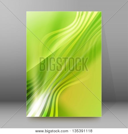 Brochure Cover Template Vertical Format Glowing Background61