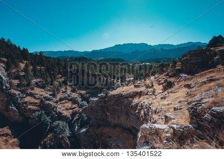 photography of a mountain scenery near kemer, antalya, turkey