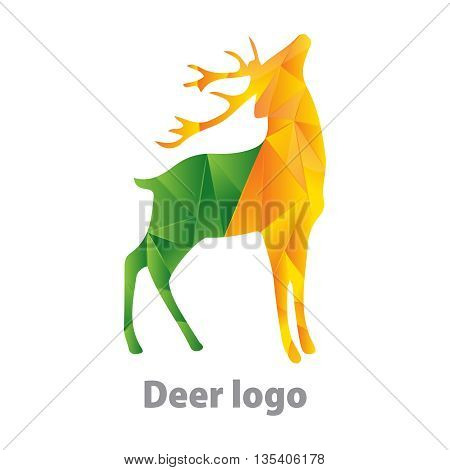 deer shape logo design 100% vector re editable and re sizable
