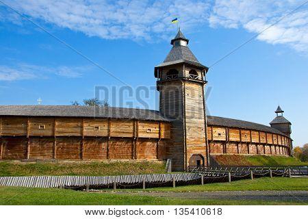 The Wooden Fortress In Baturin, Ukraine