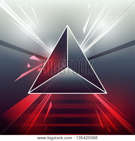 Abstract background with Triangle. 80s Retro Sci-Fi Background VHS. Vector EPS10