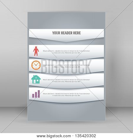 Design Element Page Booklet Style Infographics01