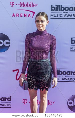 LAS VEGAS - MAY 22 : Actress/recording artist Lucy Hale attends the 2016 Billboard Music Awards at T-Mobile Arena on May 22 2016 in Las Vegas Nevada.