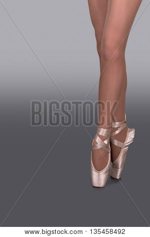 legs of the ballerina in pointes in dance