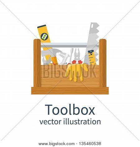 Wooden Toolbox Vector
