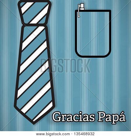 Word gracias papa against background