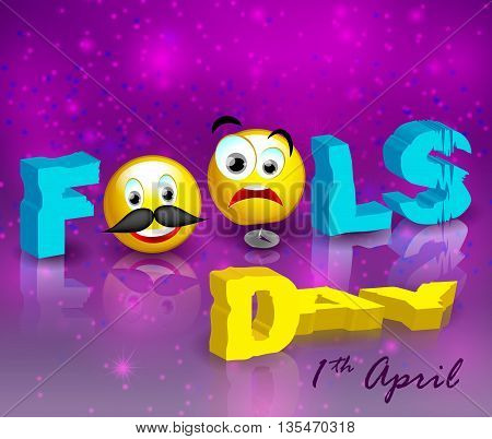 Vector illustration. Celebrating April Fools' Day. Holiday