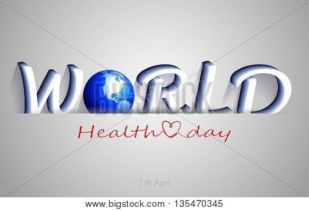 World Health Day background illustration. Holiday. Vector