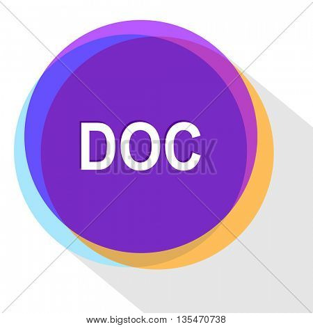 doc. Internet template. Vector icon.
