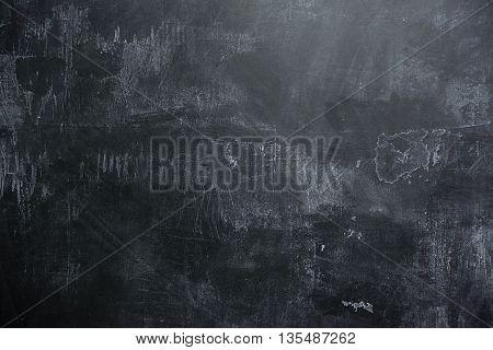 background of Empty black slate wall or schoolboard