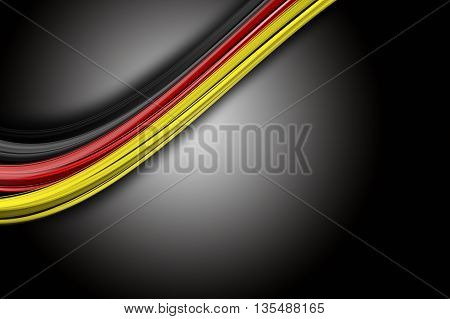 Illustrated German colored wave design for sport events