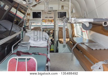 Vintage Ambulance Interior During Los Angeles American Heroes Air Show
