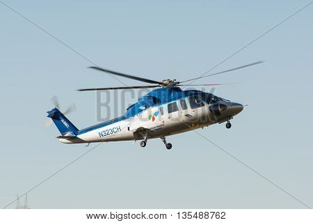Sikorsky S-76 Helicopter  During Los Angeles American Heroes Air Show