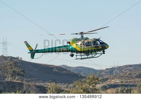 Eurocopter As350B2 Helicopter During Los Angeles American Heroes Air Show