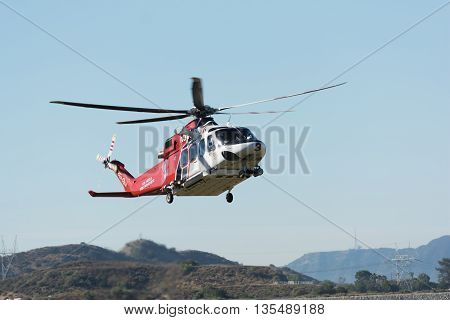 Agustawestland Aw139 Helicopter During Los Angeles American Heroes Air Show